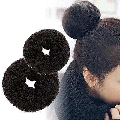 美顏色@@新娘秘書 甜甜圈假髮黑色大人用加厚型..任五件免運