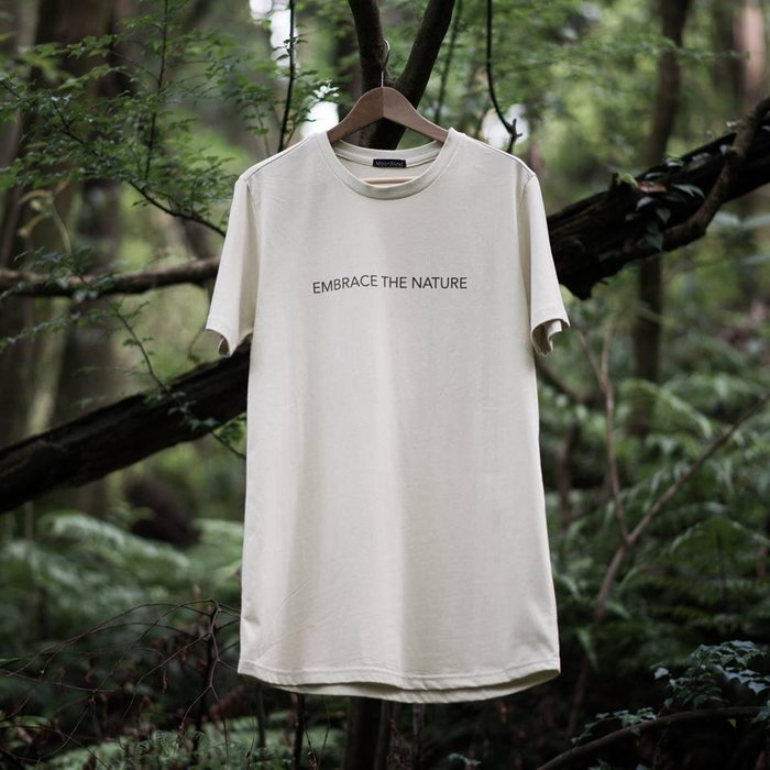 { POISON } MOONBLIND EMBRACE THE NATURE TEE  長版TEE 淡卡其