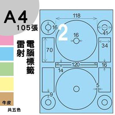 【兩盒免運】 龍德 電腦標籤紙 2格 光碟專用 LD-8106-B-A 內徑16mm 淺藍色 105張  影印 雷射 噴