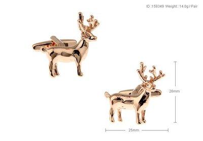 【MEN THE SHOP歐洲直送】 鹿,電鍍玫瑰金,袖扣190039