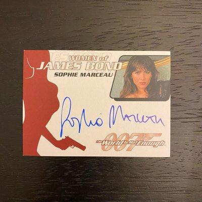 1999年 007縱橫天下 The World Is Not Enough Sophie Marceau 演員 親筆簽名 卡片