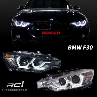 RC HID LED專賣店 BMW 3-series F30 12-15年 原廠HID對應 LED 光柱式樣 魚眼大燈組