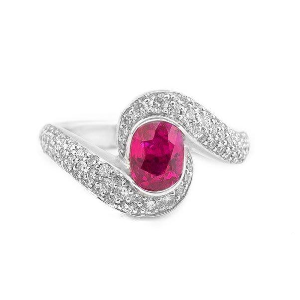 【JHT金宏總珠寶/GIA鑽石專賣】1.07ct紅寶鑽石戒指/配鑽:0.62ct(JB22-AR2)