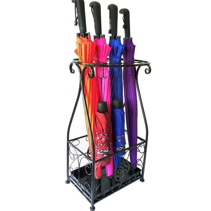 「起點3c」雨傘架酒店大堂家用鐵藝傘筒雨傘桶收納桶落地式放摺疊傘架子-免運費