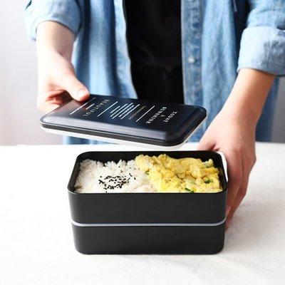 日式分格雙層帶蓋便當盒 壽司盒微波爐餐盒學生飯盒保鮮盒_☆優購好SoGood☆
