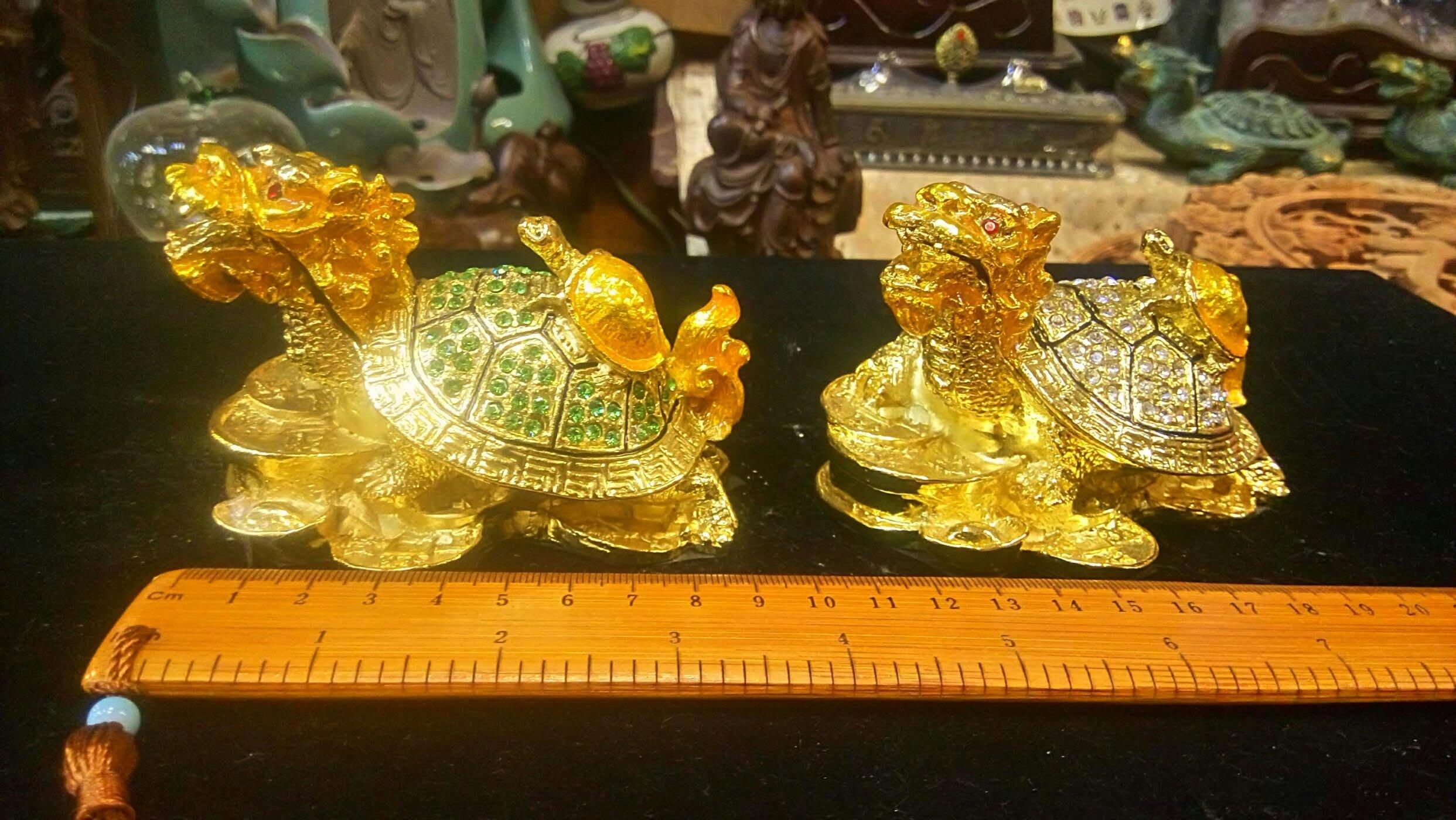銅合金鑲鑽龍龜聚寶盆