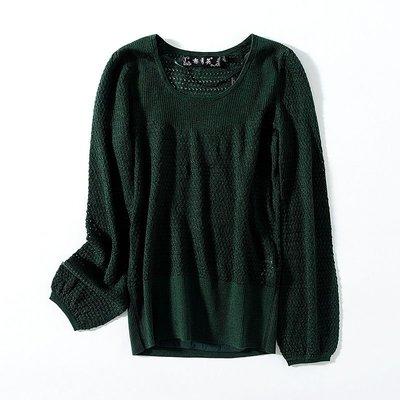 名媛! 裘提諾 兩件套鏤空羊毛針織上衣21553A - 橘S/M/L/XL