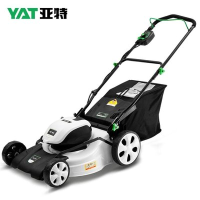 亞特充電式草坪機鋰電割草機家用電動打草機小型手推式除草修剪機 【春風十里】
