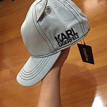 全新KARL LAGERFELD帽 卡爾拉格斐 牛仔棒球帽(最夯的牛仔色斷貨款)