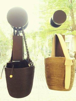 [RainDaniel] CESTA COLLECTIVE 紐約手工品牌 劍麻邊飾皮革 肩背/手提 麻編水桶包