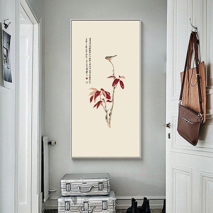 現代家居裝飾畫畫芯新中式古典畫DIY畫心客廳張大千花卉蘭花(3款可選)
