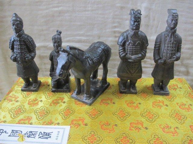 二手舖 NO.2550 仿古 中國特色手工藝 西安臨潼兵馬俑禮品擺件