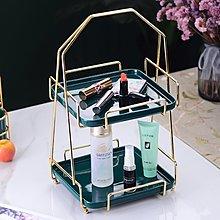 果盤歐式陶瓷金邊雙層串盤點心盤婚禮蛋糕盤水果盤首飾展示架糖果托盤好好先生
