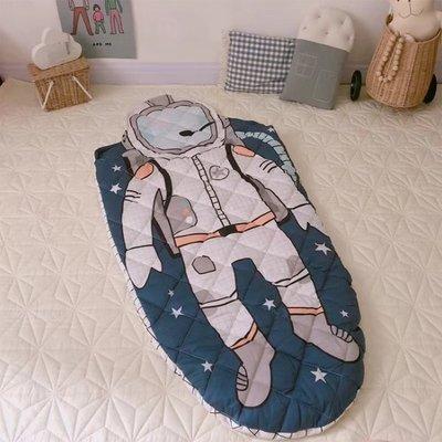 動物造型全棉卡通防踢睡袋