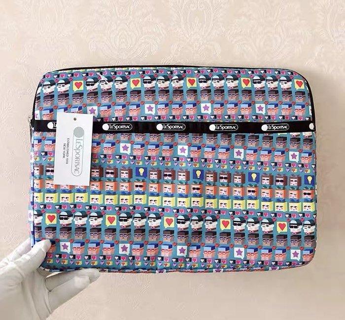 LeSportsac 魔術方塊 公主王子 輕便手拿文件袋/ipad包/13吋筆電電腦夾棉收納包 3396 降落傘防水材質 限量