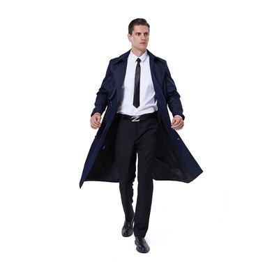 男西裝外套秋冬新款男士風衣長款英倫風雙排扣外套韓版過膝商務帥氣大碼潮男風衣