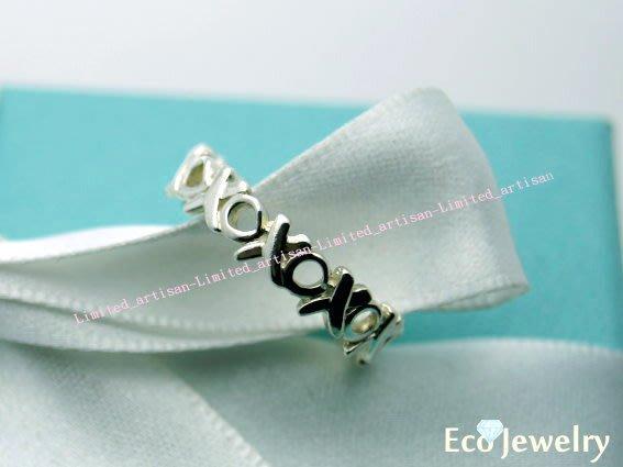 《Eco-jewelry》【Tiffany&Co】新款帕洛瑪設計款XO戒指 純銀925戒指~專櫃真品已送洗