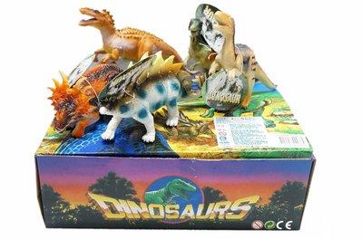 佳佳玩具 ----- 12款仿真恐龍套裝 動物模型 6吋 恐龍 模型 整盒 12入【05K12】