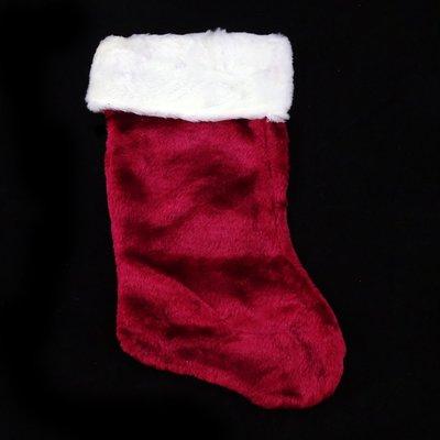 聖誕節裝飾用品大號聖誕老人 棗紅絨布長毛襪