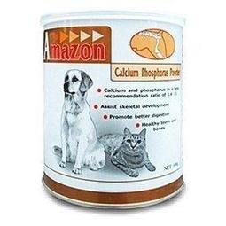 *COCO*愛美康Amazon天然鈣磷粉500g(犬貓通用)營養鈣粉/幼犬骨骼發育/關節保健