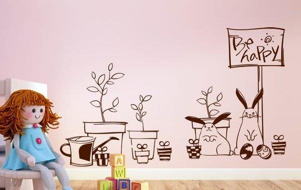 小妮子的家@快樂盆壁貼/牆貼/玻璃貼/ 磁磚貼/汽車貼/家具貼/冰箱貼