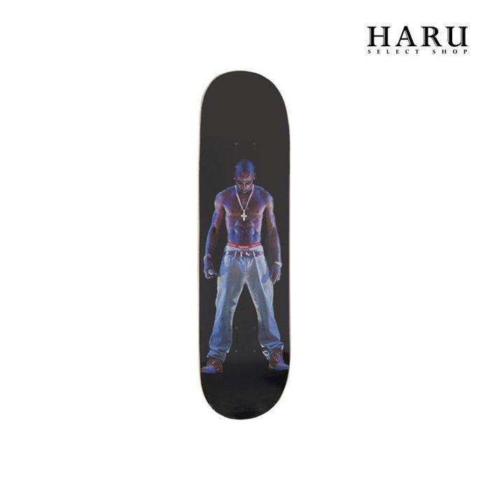☆HAru☆ Supreme 20SS Tupac Hologram Skateboard Deck 黑 滑板