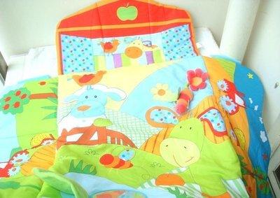 BUZZING原單 多功能遊戲毯 可愛清新 嬰兒床床墊 爬行墊 方便攜帶(小瑕疵) 免運