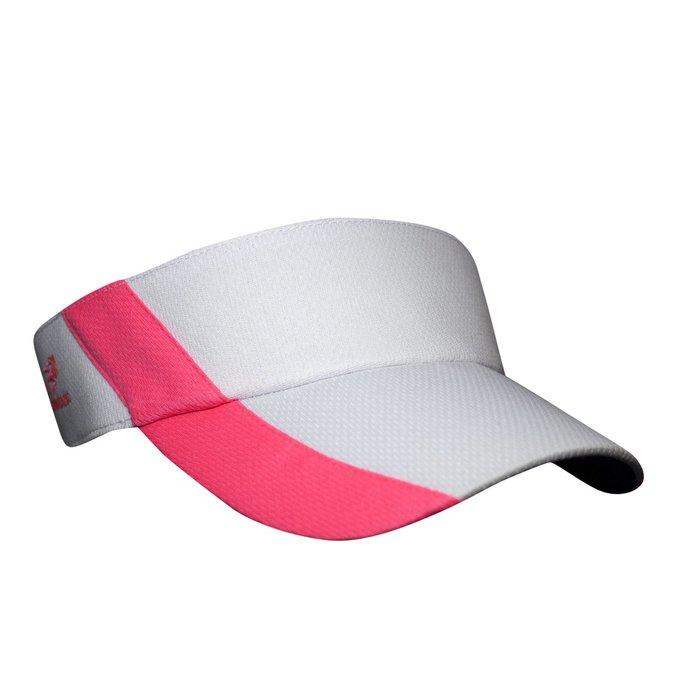 騎跑泳者 - HEADSWEATS 汗淂 (全球運動帽領導品牌) Ultralite Visor 中空遮陽帽 白/霓虹粉