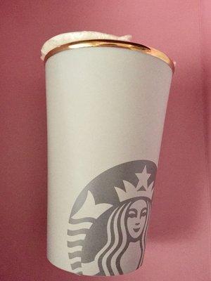 STARBUCKS 星巴克 經典絕版龍門灰白磨砂感雙層馬克杯/含蓋