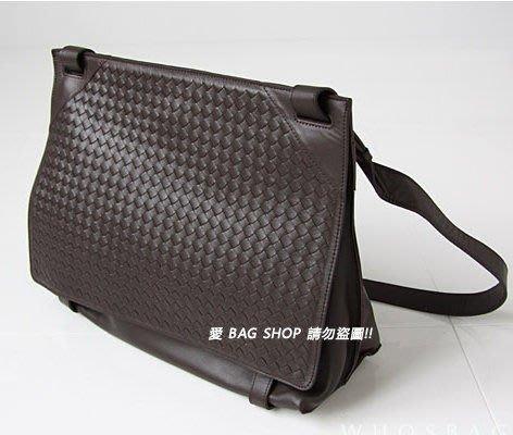 愛 BAG SHOP 韓包專賣 Whosbag 超質感 編織 小羔羊皮 郵差包 中性 型男款 6290 預購