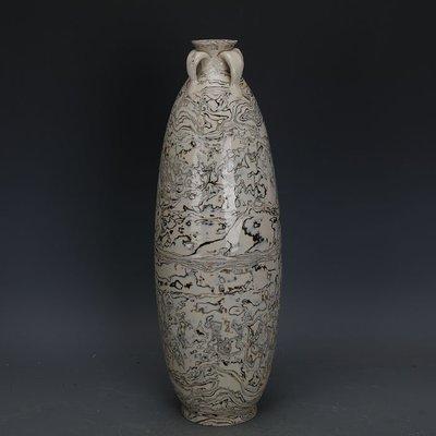 ㊣姥姥的寶藏㊣ 唐代白地全手工絞胎四系橄欖瓶  文物出土古瓷器古玩古董收藏