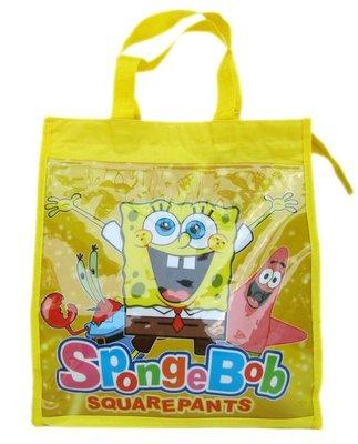 【卡漫迷】 SpongeBob 海綿寶寶 手提袋 ㊣版  補習袋 購物袋 Patrick 派大星 直式文件才藝袋