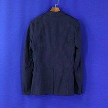 ~快樂Tiffany~【下標即結/ SISLEY】義大利製 藍色條紋 毛料混紡西裝外套 42號