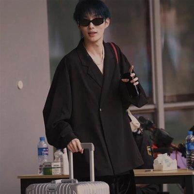「尤嘉小鋪」 LES FORTES 創意日系寬松單扣道袍西裝潮牌襯衫薄外套服奧斯卡同款H6M59