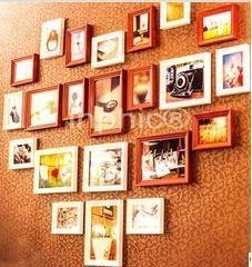 INPHIC-歐式實木照片牆心形相片牆相框創意組合實木相框牆