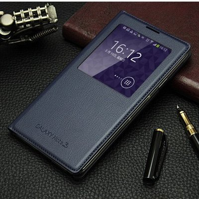 三星Note3手機殼原裝皮套翻蓋式保護...