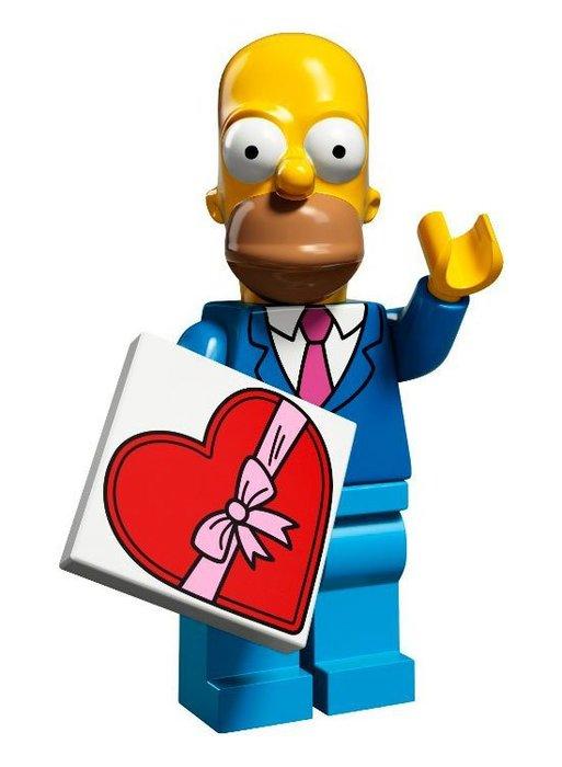 現貨【LEGO 樂高】益智玩具 積木/ Minifigures人偶系列:辛普森2代人偶包 荷馬 Homer 71009