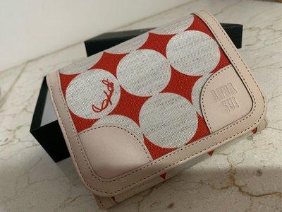 全新Anna Sui紅白有質感中夾(有盒)不議價.謝謝