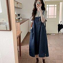 Maisobo 韓國KOREA官網款 甜美少女風牛仔吊帶裙 ROS-45 預購