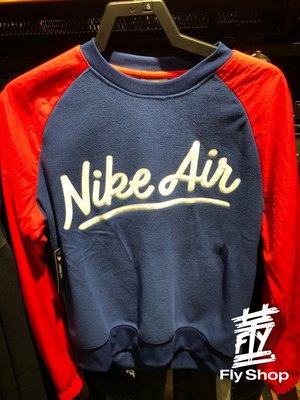 [飛董] Nike NSW AIR 草寫 復古 刷毛 休閒 長T TEE 男裝 BV5188-010 黑 492 藍紅