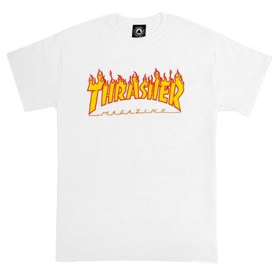 THRASHER FLAME 短袖-WHITE【HopesTaiwan】