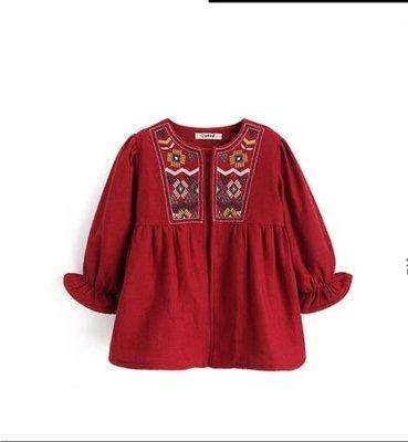 女童外套   女童加絨外套加厚款 兒童長袖上衣 寶寶童裝開衫衣服
