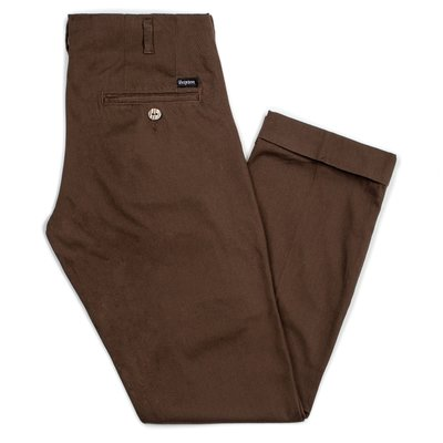[CABAS滑板店] BRIXTON REGENT TROUSER PANT 咖啡色 │工作褲 寬版