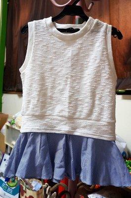 *瘋日本*東京帶回出清-Heather專櫃品-俏麗淑女風上衣-清新白(無袖/假二件式設計)-特價300元