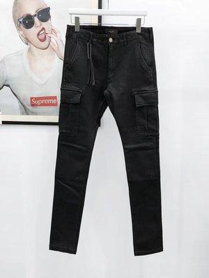 ED HOMME Amiri 19SS Waxed Jeans 刷蠟多口袋 工作褲