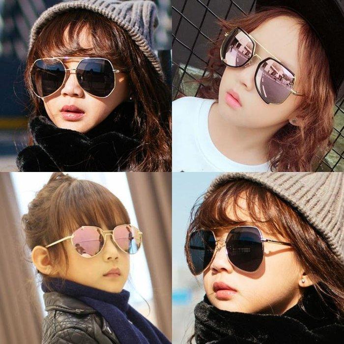 兒童太陽鏡灰螞蟻反光墨鏡男童女童太陽鏡防紫外線墨鏡寶寶眼鏡潮 【潮人裝】