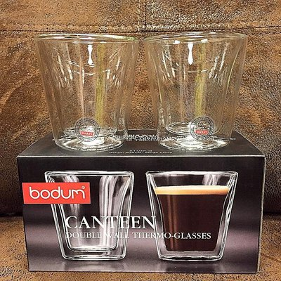 {溫叨車庫} Bodum CANTEEN 3oz 100ml 雙層玻璃杯 Espresso 烈酒杯 一口杯  一組兩入原