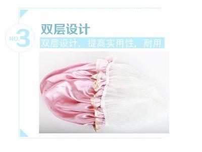 可愛韓版淋浴帽防水成人女款洗澡沐浴長發加厚雙層廚房帽子防油煙