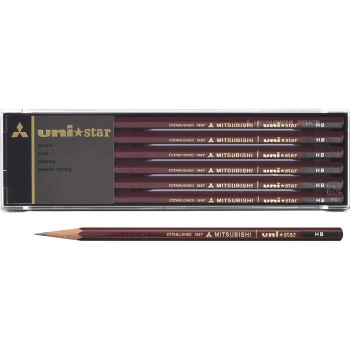 免運 TAKI MAMA 日本代購 三菱鉛筆 uni star六角鉛筆12支入/盒裝(2B-HB)。預購中