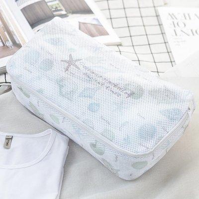 日本3COINS 北歐風 海星/貝殼 旅行收納/衣物收納/分類整理 洗衣袋/收納袋/收納包/化妝包/盥洗包